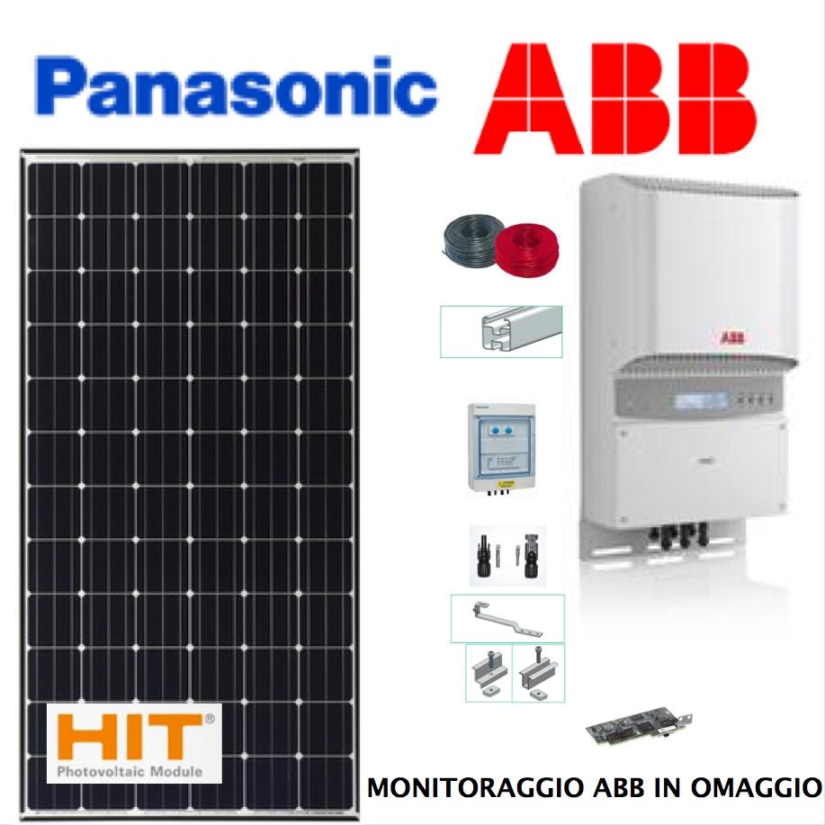 Pannello Solare Portatile 1 Kw : Kit fotovoltaico panasonic fai da te kw e